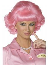 1950's Grease Frenchy Wig In Pink